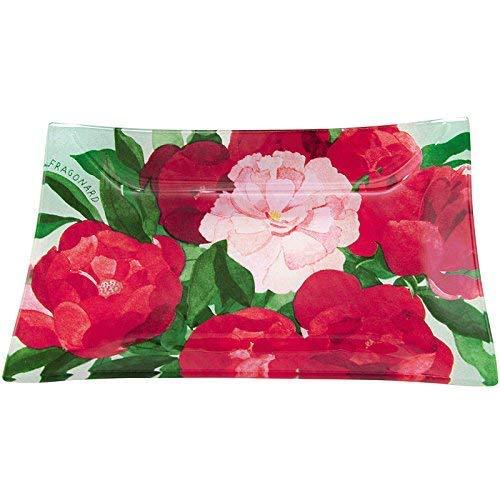Fragonard Rouge pivoines rectangulaire Porte-savon