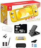 Nintendo Switch Lite - Yellow Game Console with 64GB SD Card, LCD Touchscreen, Built-in Plus Control Pad, WiFi, Bluetooth and GalliumPi Ultimate 12-in-1 Bundle