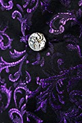 Baydeals Men's Classic Paisley Brocade Steampunk 8 Colors Waistcoat Wedding Festival Vest Suit Set #4