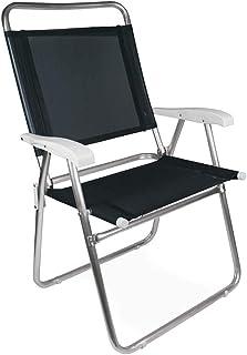 Cadeira Master Plus Alumínio Preta Mor