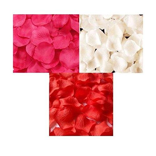 華やかな演出! フラワーシャワー バラ の 花びら 赤 ピンク 白 3色 900枚 セット / 結婚式 二次会 パーティー 等に