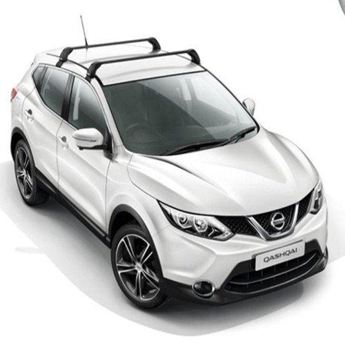 Travesaños de acero en el techo para original Nissan Qashqai nuevo 2014.
