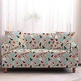 Mrzyzy Funda Sofa Elasticas 1 2 3 4 Plazas Fundas de Sofa Ajustables Fundas Decorativa para Sofá Tema Navideño Estampadas Impresa Cubre Sofa (Color : H, Size : 3 Seater (190-230cm))