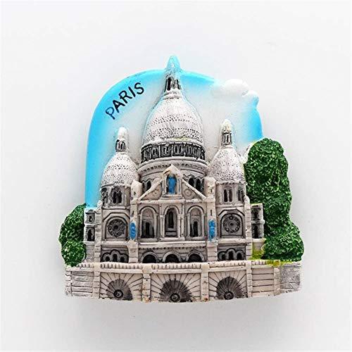 ZHHO Magnetic 3d Refrigerator Sticker World Tour Fridge Magnets Travel Souvenir Collection Gift (Color : Paris France)