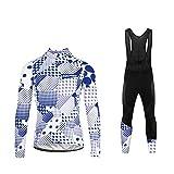 Uglyfrog Maillots Ciclismo Mujer Largos Jersey Pantalones 3D Cojín Transpirable Ropa de Bicicleta Cómoda Conjunto de Ciclista para Deporte al Aire Libre CXWL01
