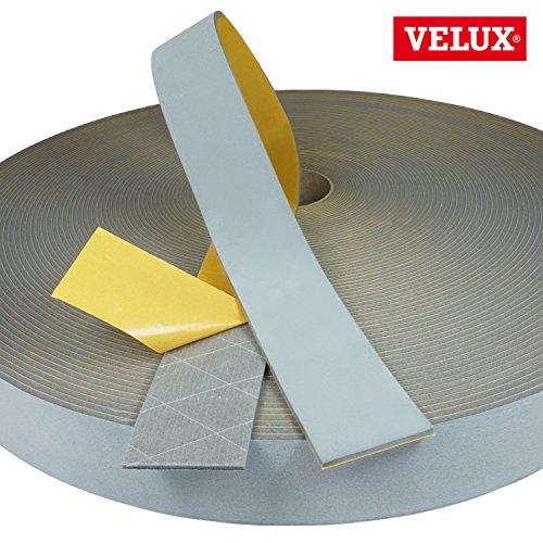 Velux Schaumdichtung für Dauerlüftungsklappe für Kunststofffenster Meterware Dichtungen Fenster 54 mm