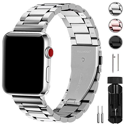 ▲ Cinturino di Metallo per Apple Watch --- compatibile con iwatch 42mm/44mm, serie 5 4 3 2 1, Apple Watch Nike +, Hermes e Edition, progettato con materiali di prima qualità, adatto sia per uomo che per donna, l'aspetto elegante ti offre un'esperienz...