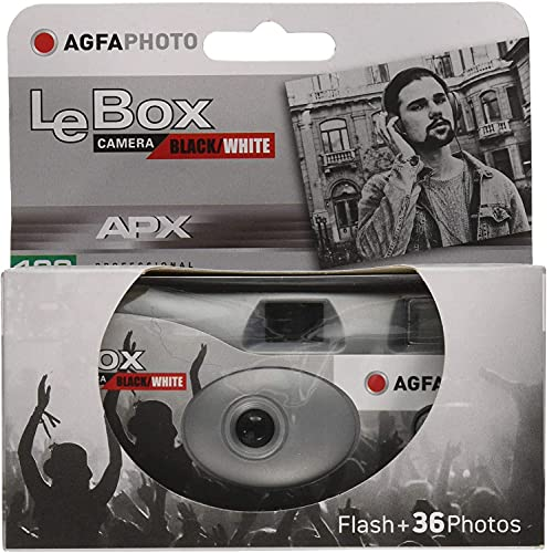 PHOTO PORST AgfaPhoto LeBox Lot de 5 appareils photo jetables Noir/blanc 1 A 5 x 27 poses