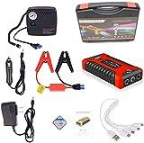 Avviamento multifunzione per auto, caricabatterie di emergenza portatile Batteria Power Bank Motorino di avviamento per auto impermeabile per alimentazione istantanea di SUV per auto-Red  99800mAh