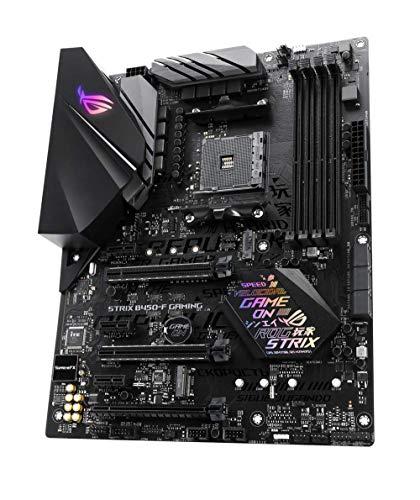 Asus ROG Strix B450-F Gaming Mainboard Sockel AM4 (ATX, AMD B450, DDR4 Speicher, USB 3.1, NVME M.2, Aura Sync)