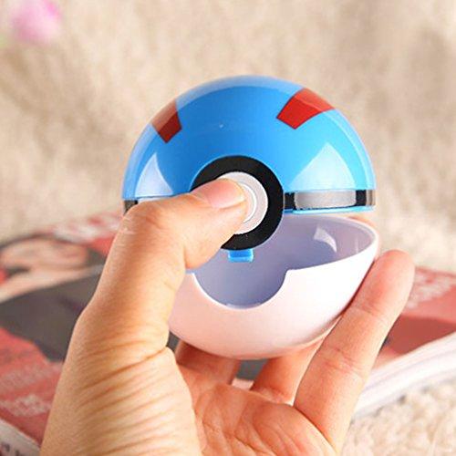 Aikar 7cm Poke Ball Pokemon Ball Set - 9PCS Pokeball + 9PCS Pokemon / Pikachu Cosplay Pop-up Master Great Ultra GS Action Figures Toys ( Pikachu And Pokemon Random )