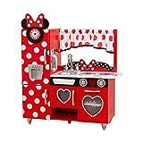 KidKraft 53371 Disney Jr. Minnie Maus Vintage Spielküche aus Holz für Kinder mit Spieltelefon