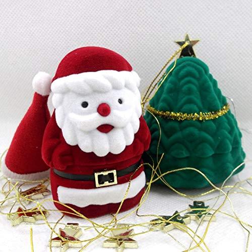 dyudyrujdtry ondenkbare Kerstman Pentagram Gevormde Geschenkdoos Leuke Ring Oorbel Ketting Sieraden Doos Fluweel Valentijn Geschenkdoos voor Home Decoratie