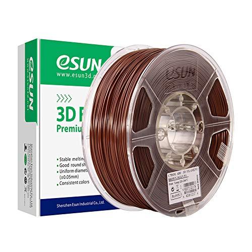 eSUN Filamento ABS 1.75mm, Stampante 3D Filamento ABS, Precisione Dimensionale +/- 0.05mm, Bobina da 1KG (2.2 LBS) Materiali di Stampa 3D per Stampante 3D, Marrone