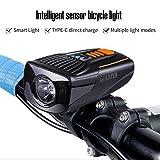 Asvert Luce Anteriore Bici USB Luci LED per Bicicletta Ricaricabili Impermeabile IP65 Fana...