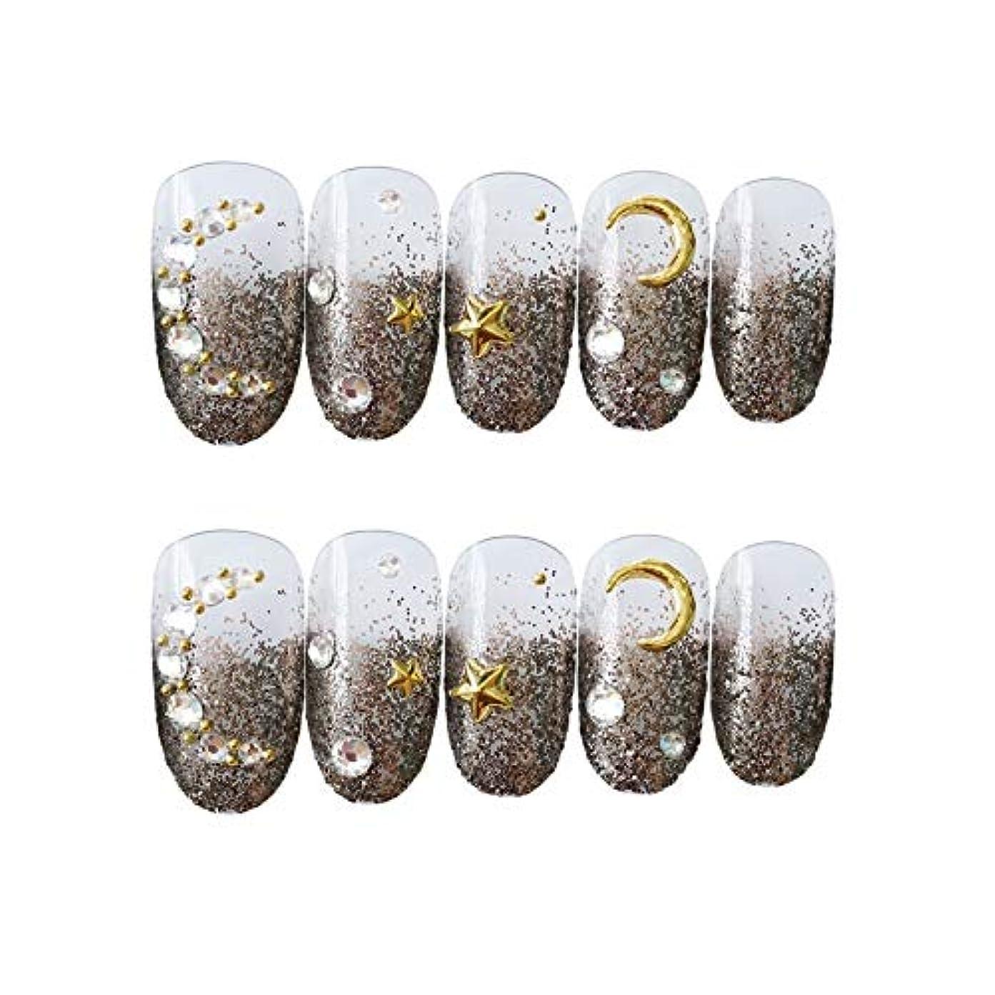 パウダースパン宿NANNAN ネイルチップ 3D ネイルチップ 綺麗な飾り付け 24枚入 原宿 和風 夢幻 和装 手作りネイルチップ 結婚式ネイルチップ