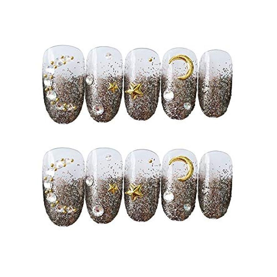 アルファベット造船お香FAKE NAIL LUOSAI 3D ネイルチップ 綺麗な飾り付け 24枚入 原宿 和風 夢幻 和装 手作りネイルチップ 結婚式ネイルチップ