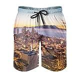 XJJ88 San Francisco Bay Herren Strand-Shorts –...