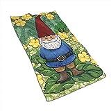 Snbin Gartenzwerg Mikrofaser Handtücher Handtücher Schnelltrocknende Handtücher Sporthandtücher (40x70cm) Für Reisen, Fitness, Yoga