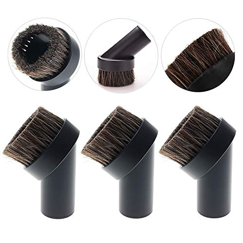 TXIN 4 Pieces Soft Horsehair Bristle Vacuum Attachments Dusting Brush Cleaner Dust Brush, Small Round Corner/Track Cleaning Tools Vacuum Brushes Replacement, Inner Dia 32mm/1.26 in