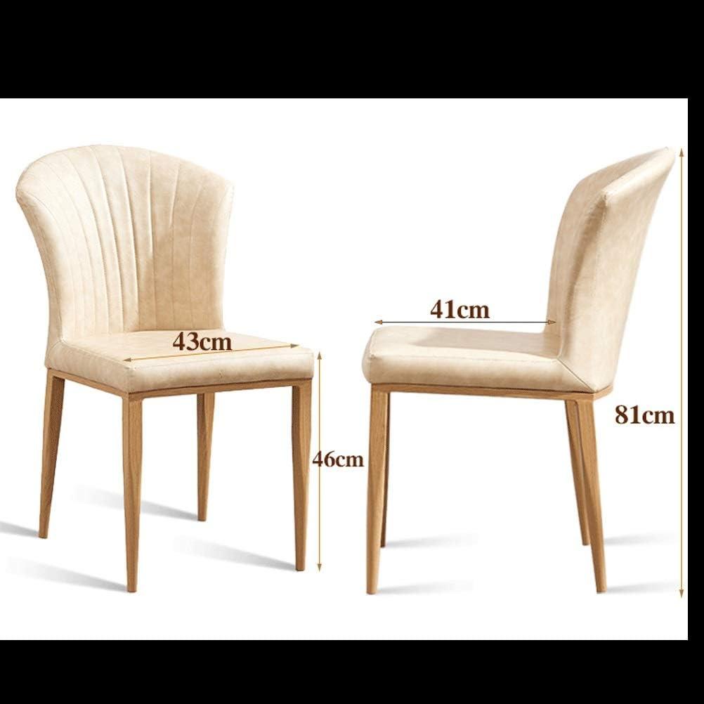 Salle à Manger Moderne de Maison en Bois Chaise Hôtel Décoration Chaise Négocie Chaise Souple et Confortable Chaise Lounge Chair Réception du Dossier Chaise (Color : Beige) Beige