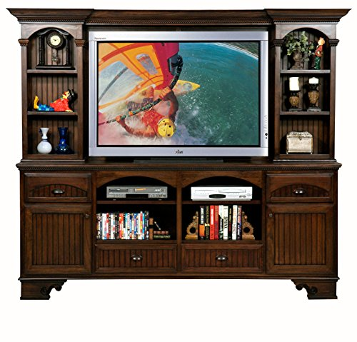 Eagle Furniture Manufacturing American Premiere Entertainment Console and Hutch with 60' Opening, 90', Caribbean Rum