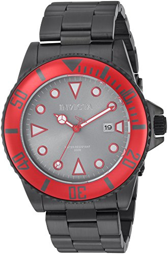 Invicta Men's Pro Diver Quartz Watch with Stainless-Steel Strap, Black, 9 (Model: 90296)