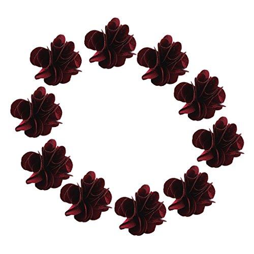 chiwanji 10pcs Boucle d'oreille Mariée Fleur en épingle à Cheveux Floral Pince à Cheveux pour Le Décor De Mariage De Bal - Rouge