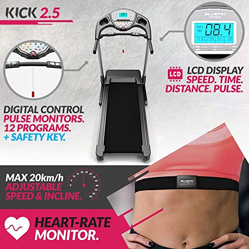 Bluefin Fitness KICK High-Speed Laufband | Leise Bild 6*