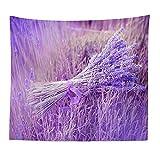 FYJHRR Lavendel Tapisserie Wandbehang, Strand Decke