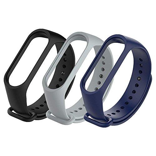 Fit-power Lot de 3 bracelets de rechange pour montre connectée Xiaomi Mi Band 3(ne convient pas aux modèles Mi Band 2/1S), Miband3-Pack of 3A
