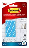 Command Bath Large Water-Resistant Adhesive Refill Strips, 4-Large Strips, Re-Hang Large Bath Hooks or Caddies