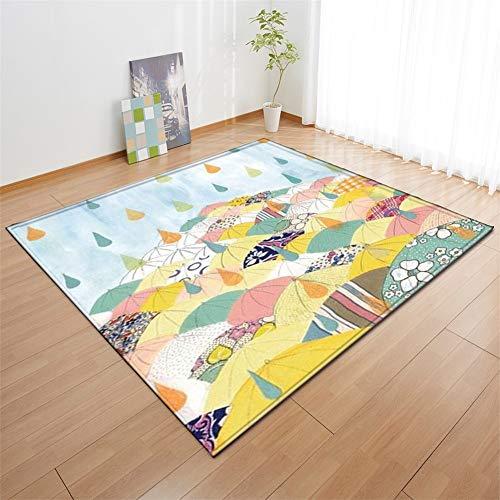 kinntn tapijten 3D Scandinavische stijl groot formaat antislip wasbaar slijtvast dikte ongeveer 7mm tapijt veel paraplu's Geschikt voor woonkamer slaapkamer keuken Aisle Study etc