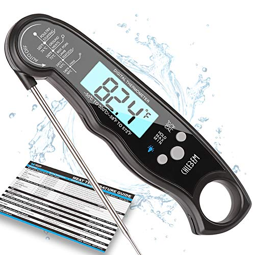 Digital Meat Thermometer For Grill Food Thermometer For Cooking Instant Read BBQ Thermometer Gauge For Kitchen Liquids Candy Oil Deep Fry Outdoor Grilling Accessories Electronic Thermometer By-CHLEBEM