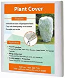 Agfabric Plant Covers Freeze Protection - 0.95oz H32 x W32 Shrub Cover, Winter Tree Cover ...