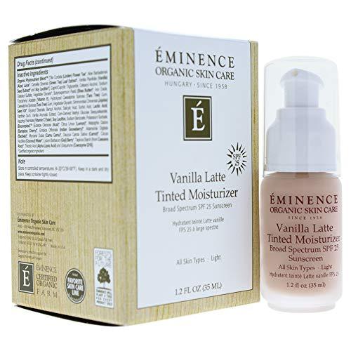 Eminence Organic Skincare Vanilla latte tinted moisturizer spf 25 (light) 1.2 oz, 1.2 Ounce