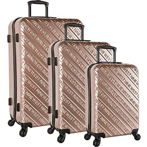 Nine West 3 Piece Hardside Spinner Luggage Set, Rose