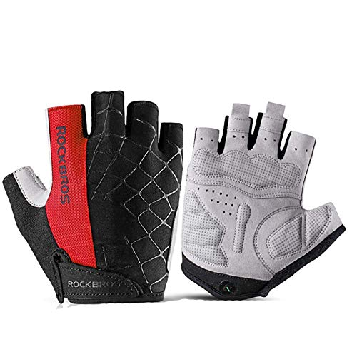 Ademende Half Vinger Fietshandschoenen Sport Schokbestendige Bike Handschoenen Touch Screen Mannen Vrouwen Fietshandschoenen voor Mountainbike