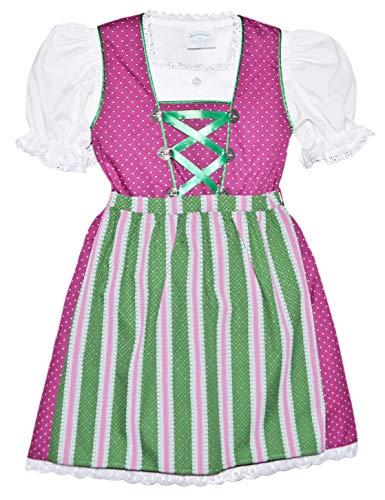 Schrammel Vestido tirolés para niña, cómodo vestido tirolés – bonita blusa de encaje Heidi