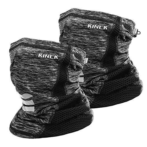 KINCK ネックカバー 冷感 紫外線対策 日焼け防止 伸縮 通気性 吸汗速乾 夏用 ランニング 男女兼用 2枚入