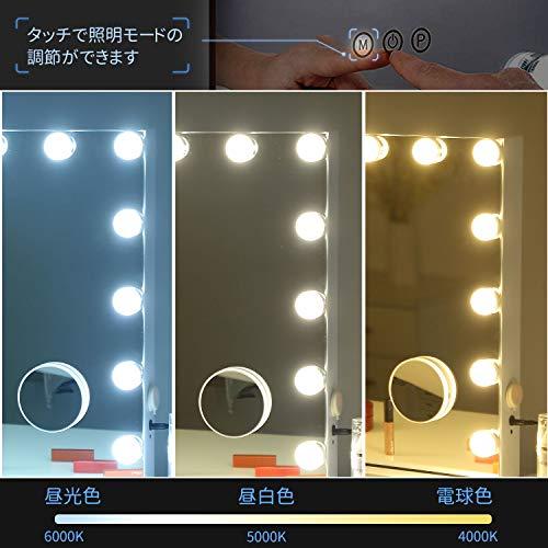 FENCHILIN『女優ミラー壁掛け/卓上両用15個LED電球付き(D-3)』