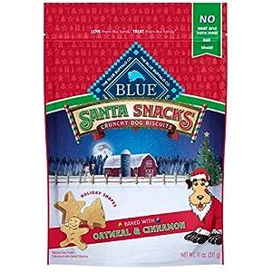 Blue Buffalo Santa Snacks Oatmeal & Cinnamon Crunchy Dog Treat Biscuits 11-oz Bag