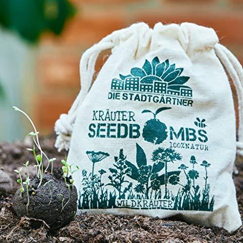 Die Stadtgärtner Seedbombs | Wildkräuter | 8 handgemachte Samenbomben | verschiedenes Kräuter-Saatgut u.a. Fenchel oder Dill