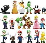 Miotlsy Super Mario Decoración para Tartas de Cumpleaños 18PCS Usado para Niños Decoración de La Torta del Cumpleaños Fiesta Suministros
