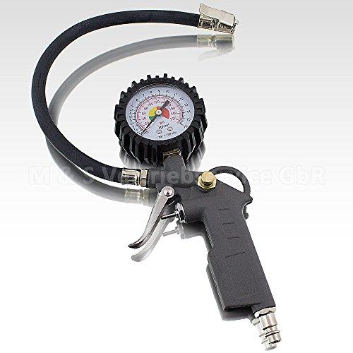 BITUXX® Reifenfüller 0-12 BAR Reifenfüllpistole Reifendruckprüfer Reifen Luftdruckprüfer