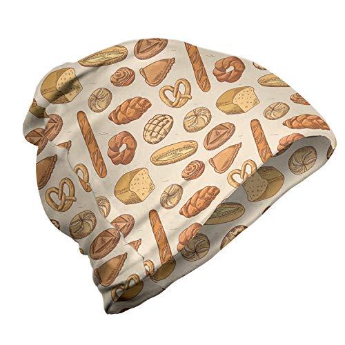 ABAKUHAUS Bakkerij Unisex Muts, Diverse broodje en broodsoorten, voor Buiten Wandelen, Dark Peach Sand Brown