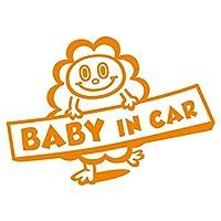 imoninn BABY in car ステッカー 【パッケージ版】 No.48 モクモクさん (オレンジ色)