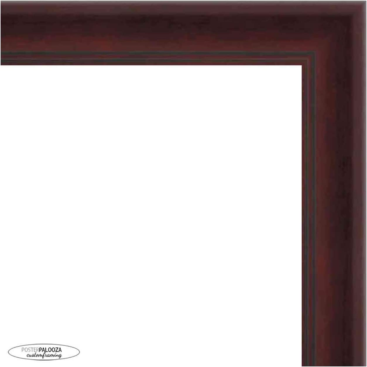 40x13.5 Contemporary Mahogany Wood Picture UV National Philadelphia Mall products Frame - Panoramic