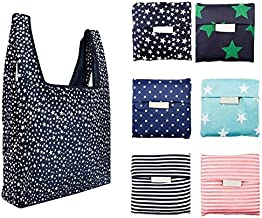 6 Pack Reusable Shopping Grocery Bags Foldable, Washable Grocery Tote with Pouch, 35LB Weight Capacity, Heavy Duty Shoppin...