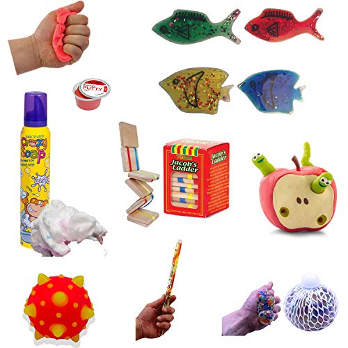 Playlearn 8 Piece Sensory Kit For Autism, ADHD, Stress Relief, Anti-Anxiety. Fidget Toys Set for Kids and Adults